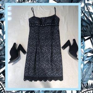 Dresses & Skirts - Blue/black illusion dress